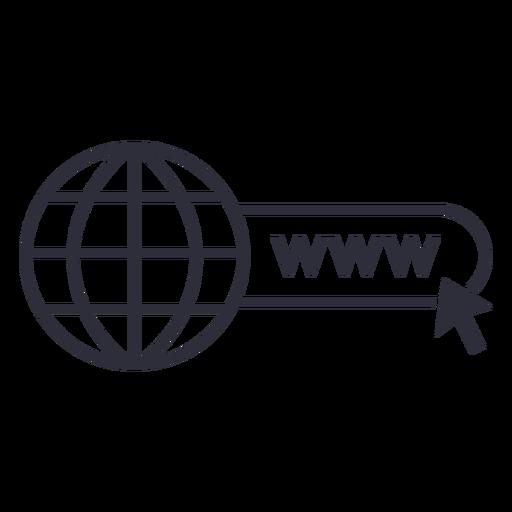 Website www icon stroke