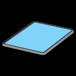 Tablet largo isométrico