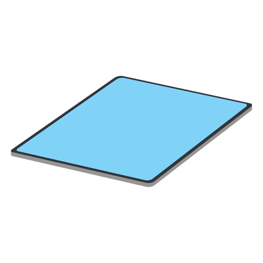 Wide tablet isometric