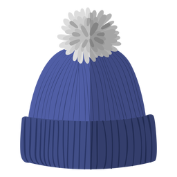 Winter beanie hat illustration