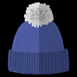 Winter beanie hat illustration
