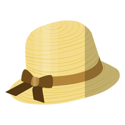 Woman beach hat illustration