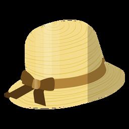 Woman beach hat illustration