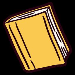 Ilustración de libro cerrado amarillo