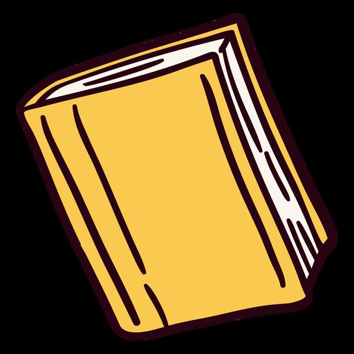 Yellow closed book illustration