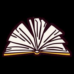 Ilustración de libro abierto amarillo