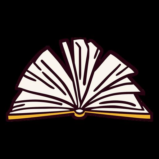 Yellow open book illustration