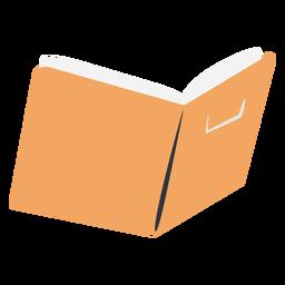 Yellow open school book flat