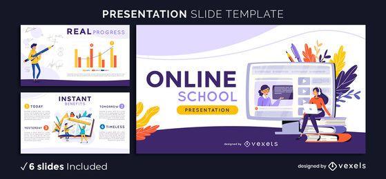 Plantilla de presentación de la escuela en línea