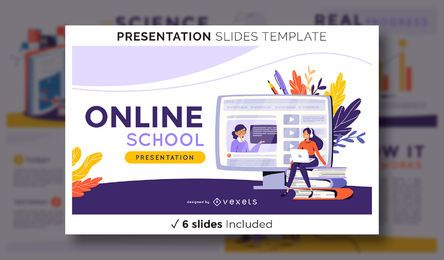 Online School Presentation Template
