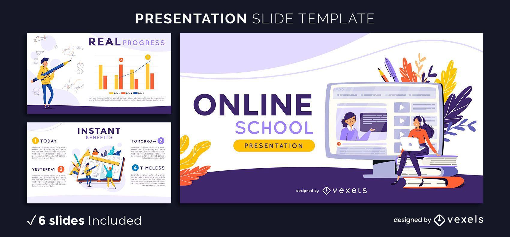 Modelo de apresentação escolar online