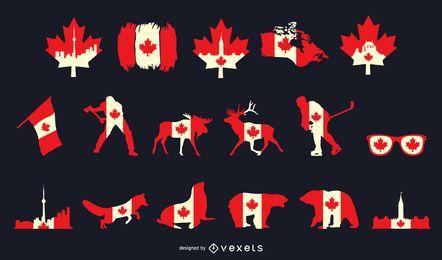 Pacote de elementos do dia do Canadá