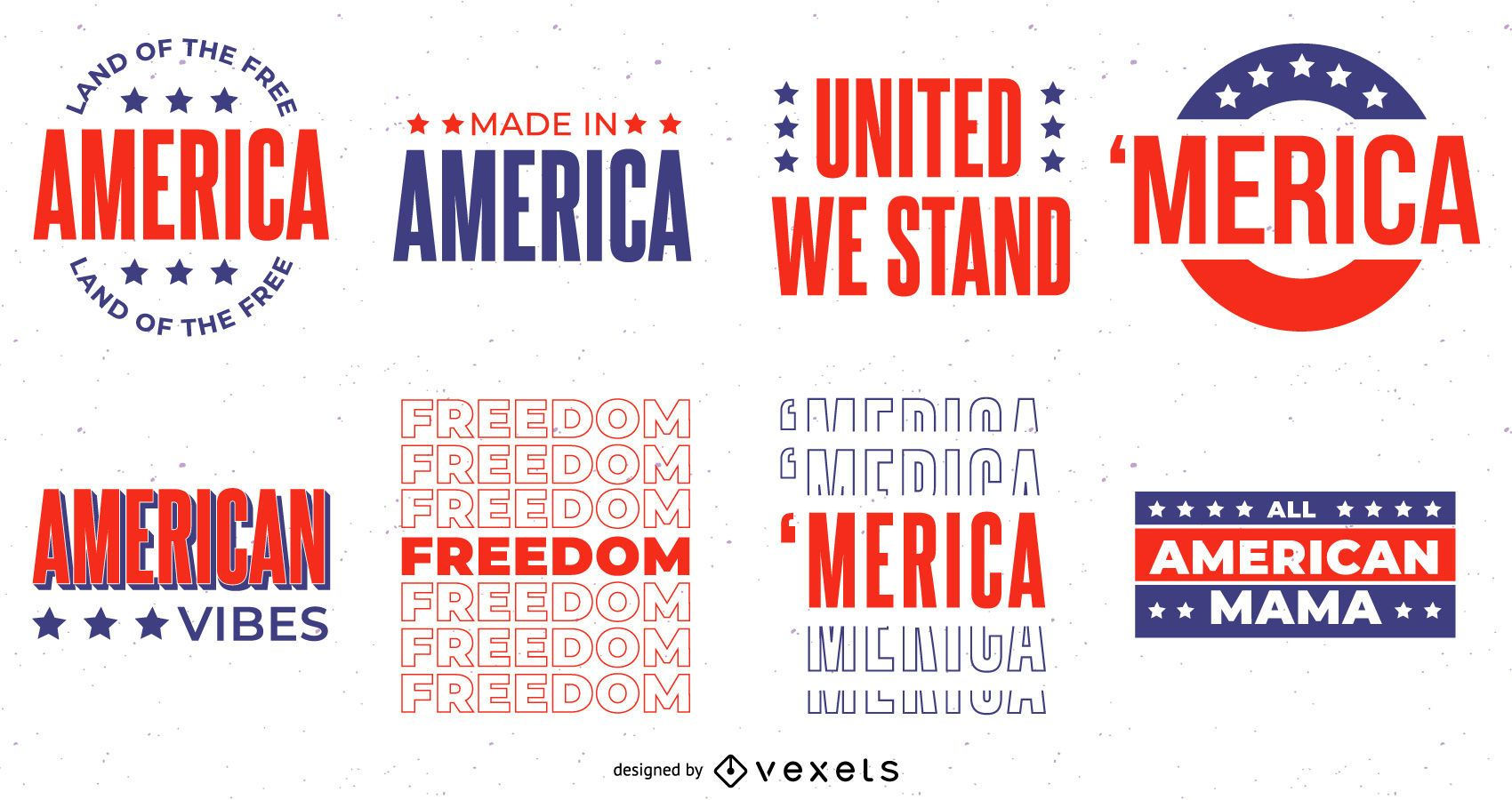4th of july lettering set