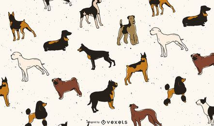 Dog breeds pattern design