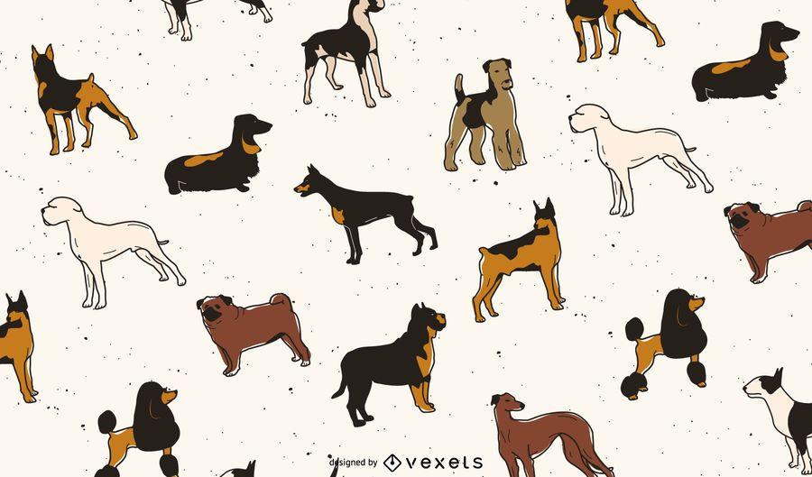Design de padrão de raças de cães