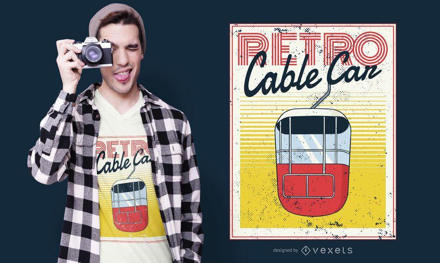 Retro Cable Car T-shirt Design