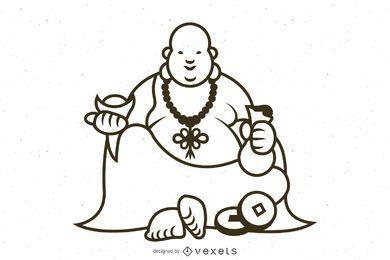 smiling buddha stroke