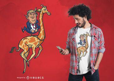 Design do t-shirt do girafa do trunfo