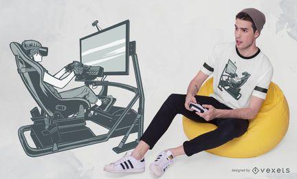 Design de t-shirt de corrida VR