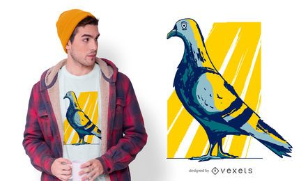 City Pidgeon T-shirt Design