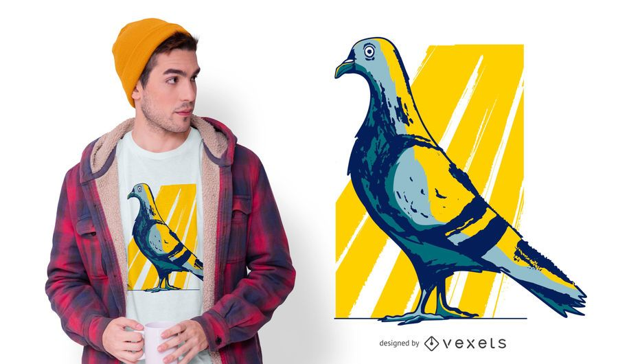 City Pidgeon T-shirt Design