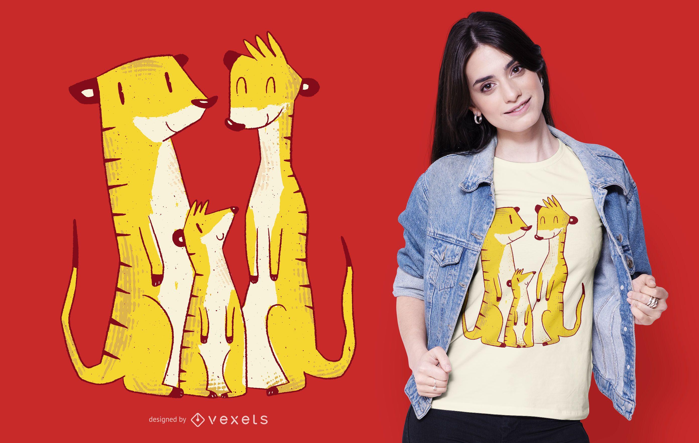 Meerkat Family T-shirt Design