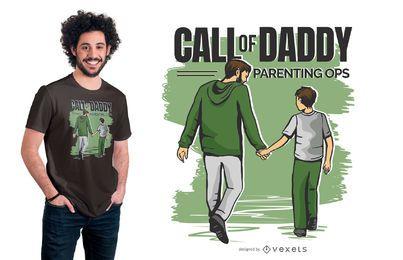 Chamada do design engraçado do t-shirt do paizinho