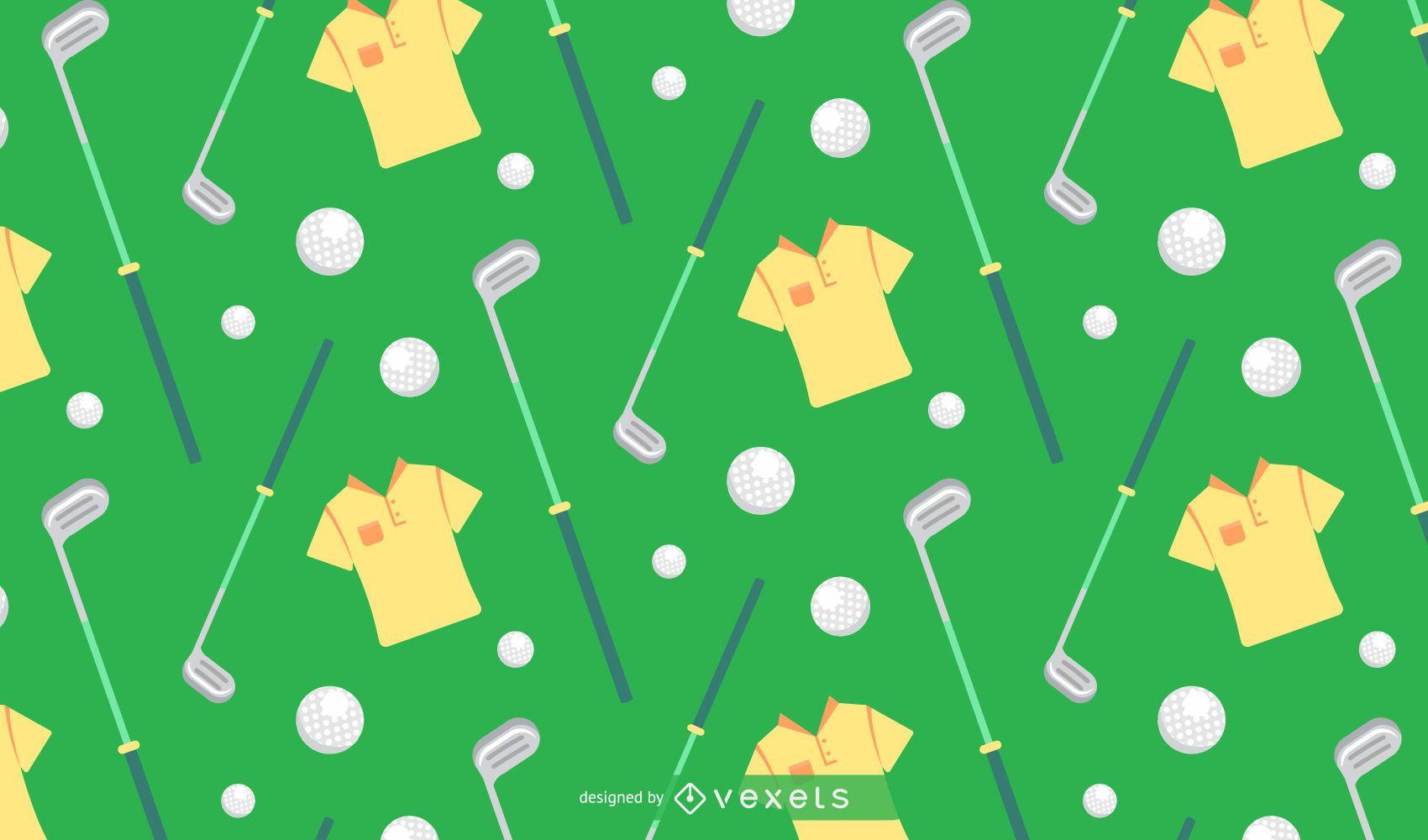 Patrón de diseño plano de golf