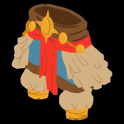 Vestido de hombre azteca isométrico