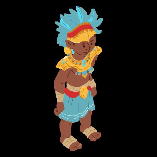 Aztec man headdress isometric