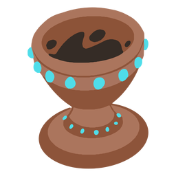 Olla azteca isométrica