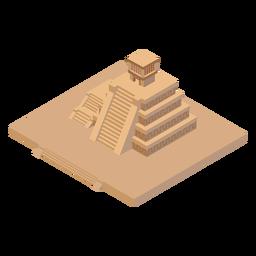 Pirámide azteca isométrica