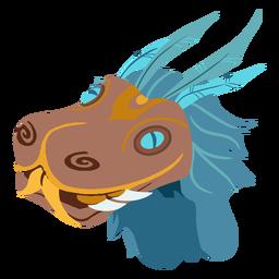Isométrica de cabeça quetzalcoatl asteca
