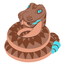 Aztec rattlesnake isometric