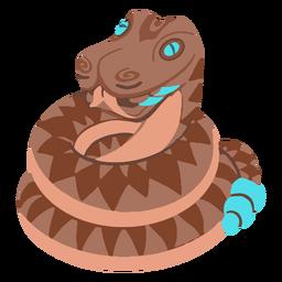 Serpiente de cascabel azteca isométrica