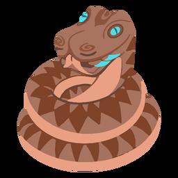 Isométrica serpiente azteca