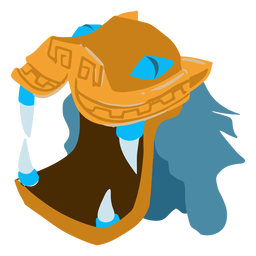 Casco de dragón de guerra azteca isométrico