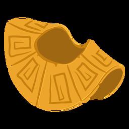 Armadura de hombro de guerra azteca isométrica