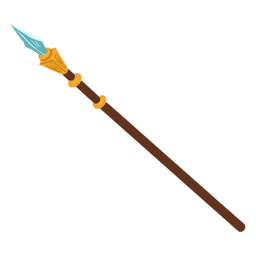Aztec war spear isometric