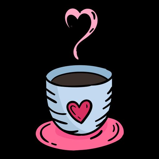 Dibujado a mano doodle San Valentín café Transparent PNG