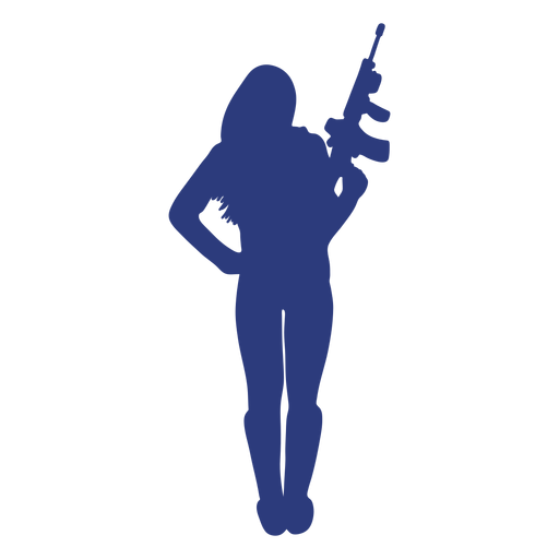 Girl rifle front ease silhouette