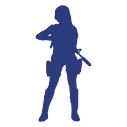 Girl rifle front silhouette