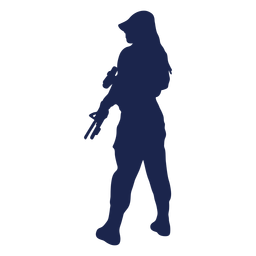 Girl rifle left facing ease silhouette
