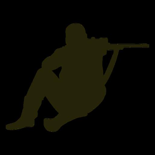 Hunter gun front aiming silhouette