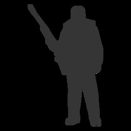 Silueta de facilidad frontal de pistola de cazador