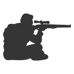 Arma de caçador, apontando a silhueta