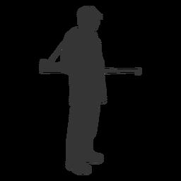 Pistola de cazador mirando hacia la derecha silueta de facilidad