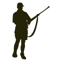 Hunter rifle reloading silhouette