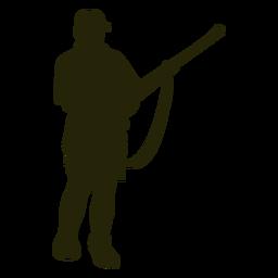 Silueta de recarga de rifle de cazador