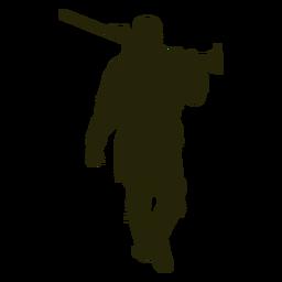 Hunter escopeta frente a caminar